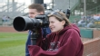 Photojournalism Students covering baseball game